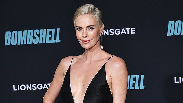 Charlize Theron Accidentally Flashes Her Friends and Screams When Her Robe Slips Open