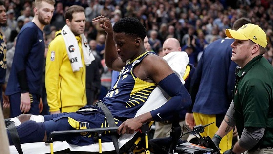 Pacers hold off Raptors but lose star Victor Oladipo
