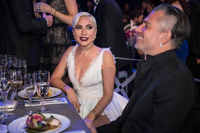 Lady Gaga and Christian Carino SAG Awards PDA - Lady Gaga and Christian Carino Kiss at SAG Awards