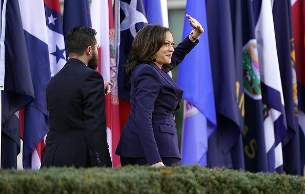 Kamala Harris says the powerful seek to divide America