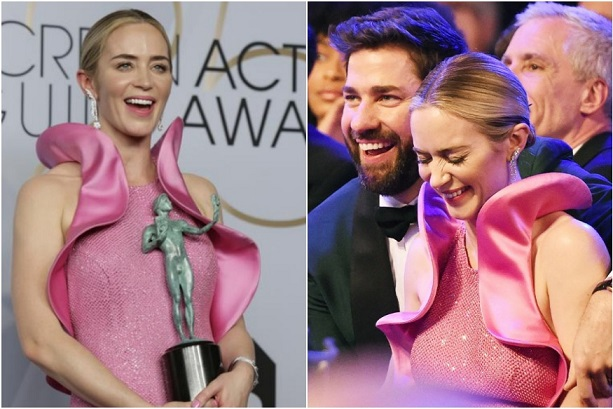 John Krasinski Causes Meltdown on Twitter As He Tears Up During Wife Emily Blunts SAG Speech