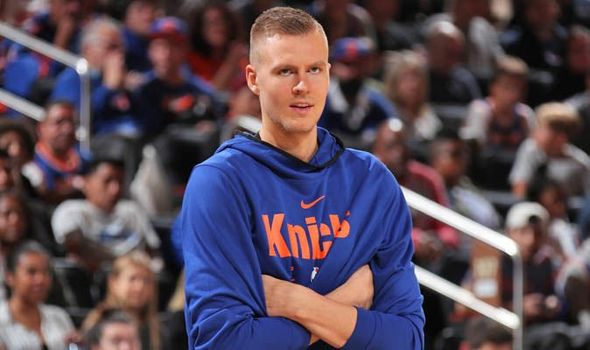 Kristaps Porzingis SHOCKS Knicks in showdown talks amid Anthony Davis rumours