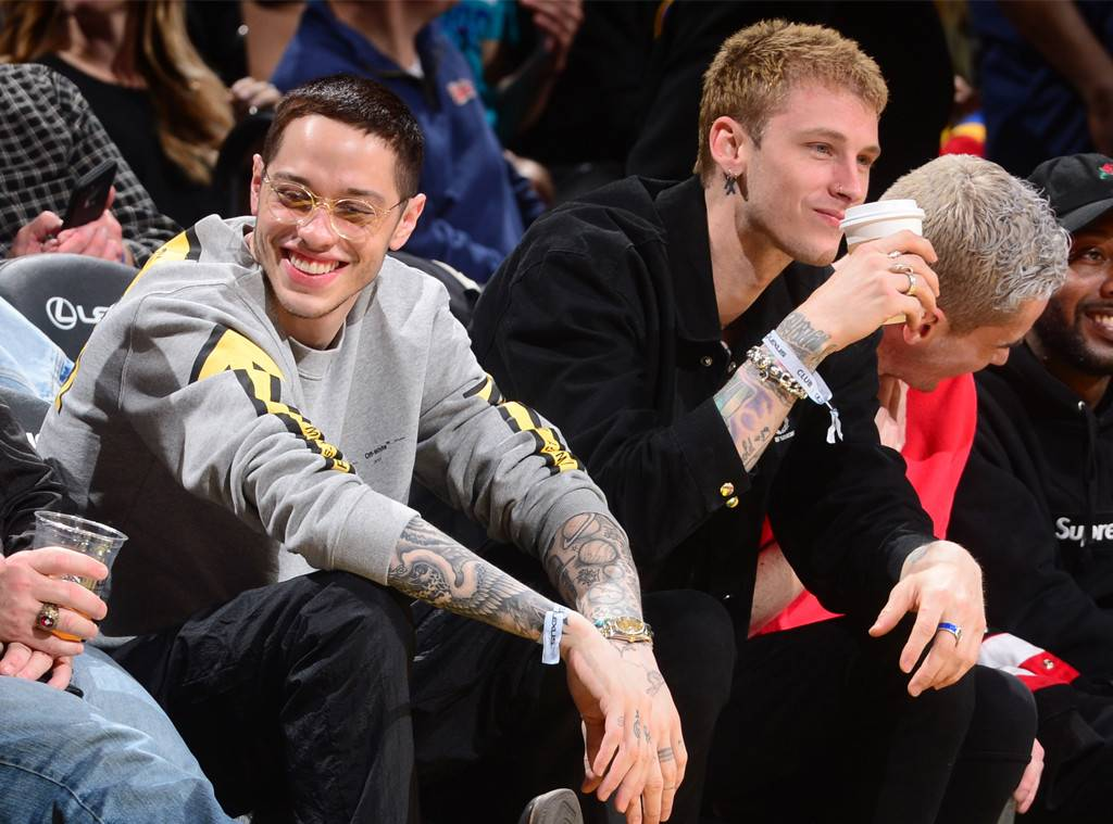 Pete Davidson and Machine Gun Kelly Take Their Friendship to a Basketball Game