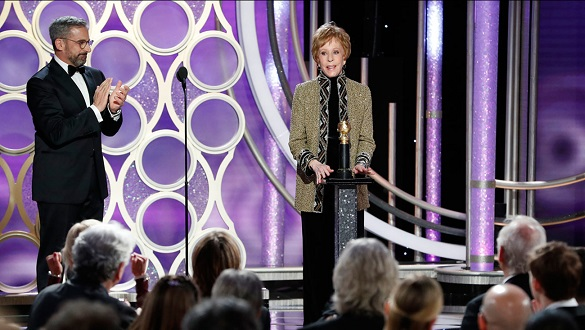 Carol Burnett reflects on her iconic career as she receives new Golden Globe award