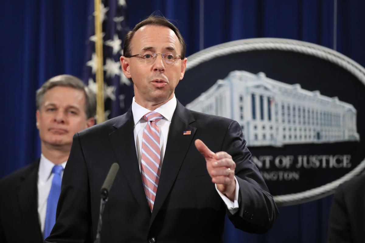 Rod Rosenstein, who appointed the special counsel investigating Trump, expected to leave Justice Dept