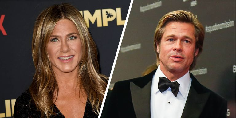 Lets not overreact, but Brad Pitt turned up to Jennifer Anistons 50th birthday party