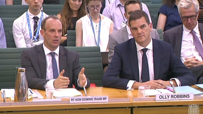 UK chief Brexit negotiator Olly Robbins warns MPs the choice is Mays deal or extension