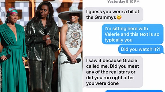 Michelle Obamas Grammy appearance did not impress mom