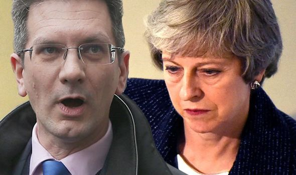 Brexiteer Steve Baker issues DIRE WARNING to Theresa May - will COLLAPSE the government