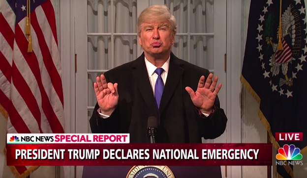Trump slams SNL for mocking his national emergency