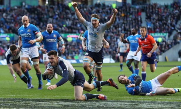 Blair Kinghorn hat-trick sparks Scotland's Six Nations victory over Italy