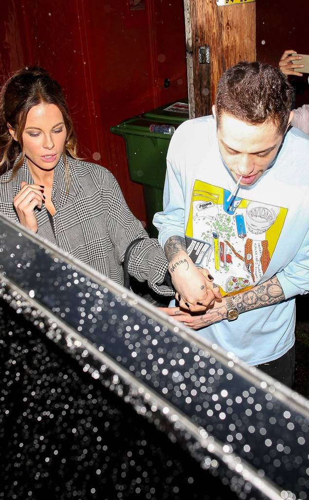 Pete Davidson and Kate Beckinsale Reunite and Show PDA After Comedy Show