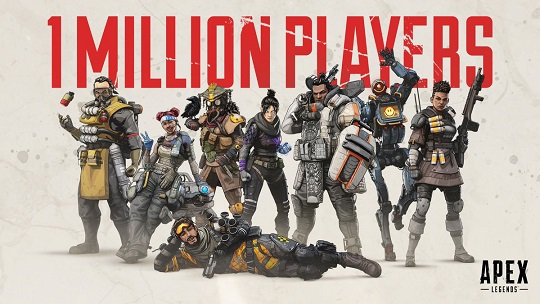Apex Legends Hits 1 Million Players In 8 Hours