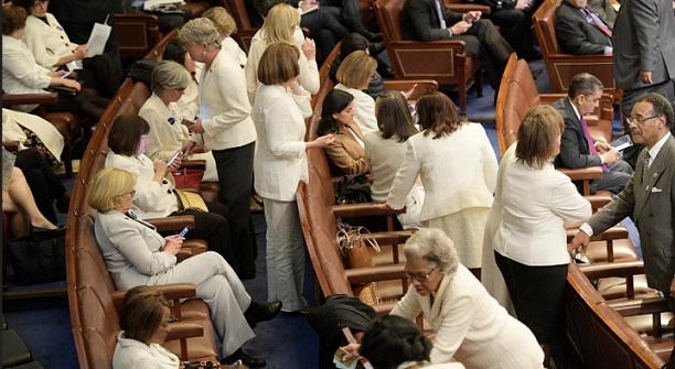 Democratic women to send political message by wearing white to State of the Union