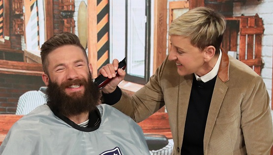 Patriots WR, Super Bowl MVP Julian Edelman looks completely different after shaving his giant beard