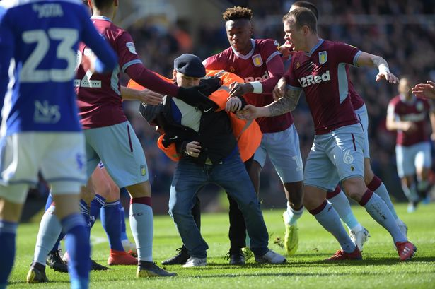 Aston Villa's Jack Grealish punched by fan in derby win at Birmingham City