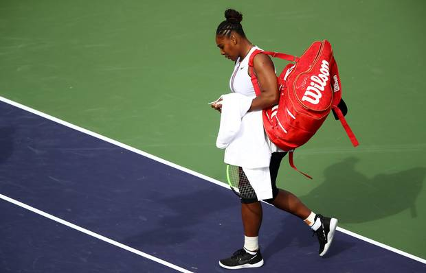 WATCH: Distressed Serena Williams forced to quit match against Garbine Muguruza after claiming she cant breath