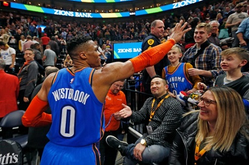 'I'll 'f–k you up': Westbrook lashes out at heckling Jazz fan