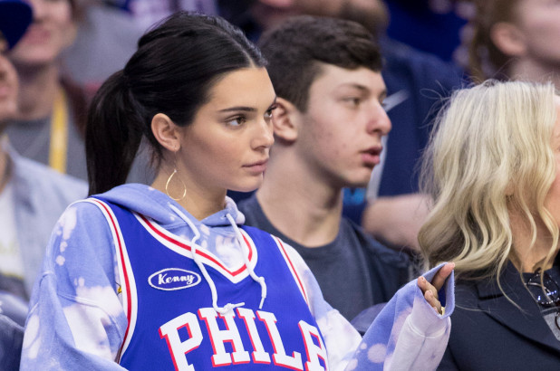 Kendall Jenner wears Ben Simmons' jersey at Philadelphia 76ers game