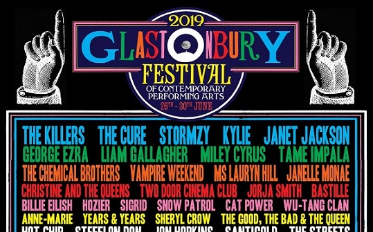 Glastonbury 2019 Line-Up Announced With The Killers And The Cure Joining Stormzy As Headliners