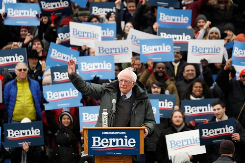 Bernie Sanders returns to New York roots, says he can defeat Trump