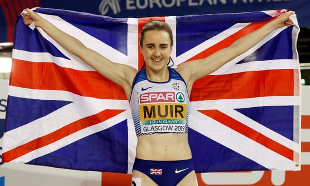 Laura Muir wins double-double to give Great Britain record medals tally