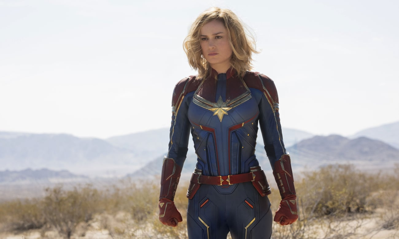 Captain Marvel review – Brie Larson kicks ass across the universe