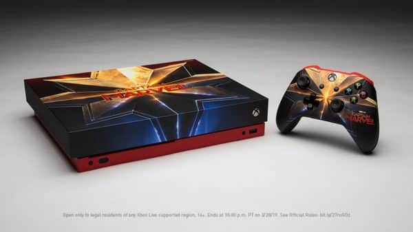 Microsoft is Giving Away a Captain Marvel Xbox One X