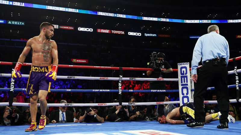 Vasiliy Lomachenko defeats Anthony Crolla with fourth-round knockout