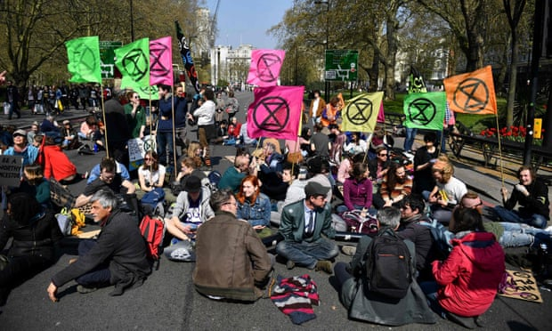 Thousands join Extinction Rebellion protests across London