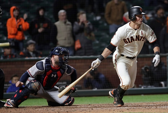 Joe Panik's walk-off single lifts Giants to comeback before smallest home crowd of 2019