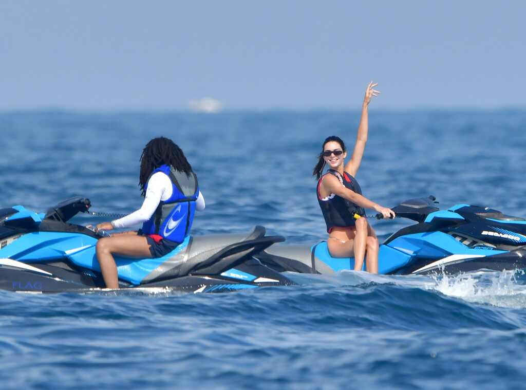 Kendall Jenner Soaks Up the Sun on Jet Skis With Luka Sabbat in Monaco