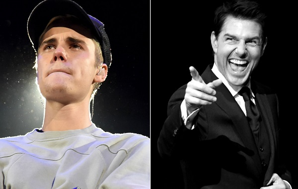 Justin Bieber challenges Tom Cruise to fight