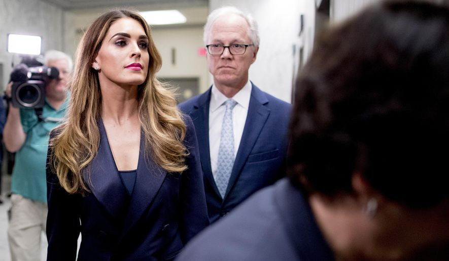 Hope Hicks arrives for closed-door interview with House panel