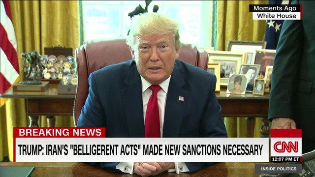 Trump announces hard-hitting new sanctions against Iran