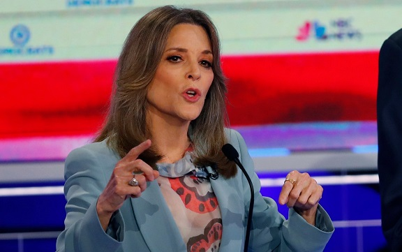 Marianne Williamson stands out from Democratic field with eccentric debate display