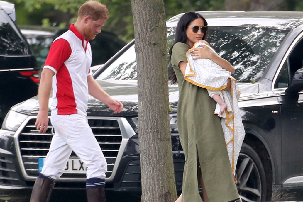 Meghan Markle steps out with Archie for Prince Harrys polo match