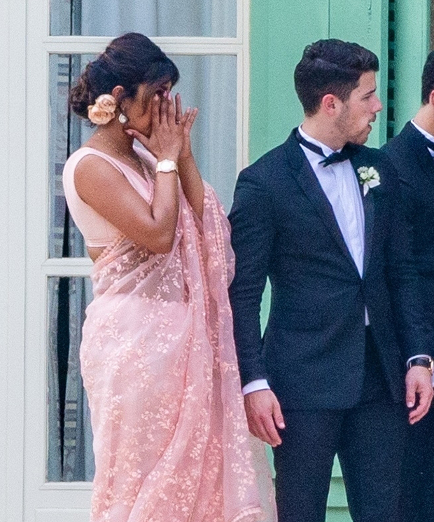 Priyanka Chopra Wipes Away Tears At Joe Jonas & Sophie Turner's Wedding in Touching Photo