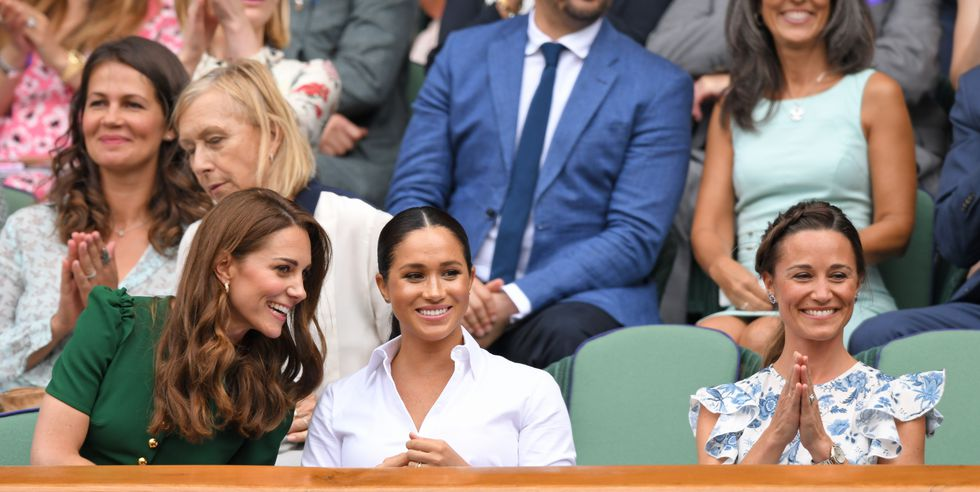 Every Photo of Kate Middleton and Meghan Markle at Wimbledon 2019 Together