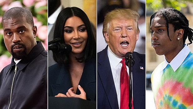 Report: Kanye West and Kim Kardashian in Talks With President Trump to Free ASAP Rocky