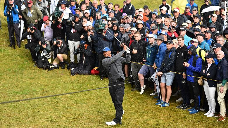 Tiger Woods sore and scraping it around at the Open