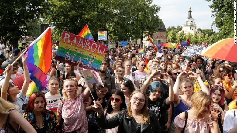 Polish city holds first LGBTQ pride parade despite far-right violence