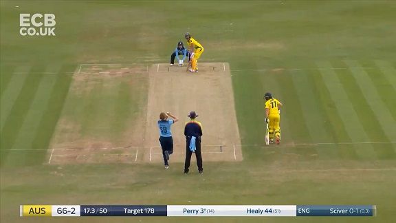 Womens Ashes: Ellyse Perry out after wonderful glovework by Sarah Taylor