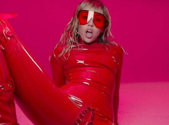 Miley Cyrus wears vagina dentata catsuit in Mothers Daughter video