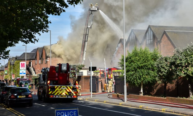 Walthamstow fire: blaze engulfs shopping centre in east London
