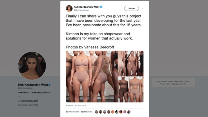 Kim Kardashian West backs down over Kimono lingerie range