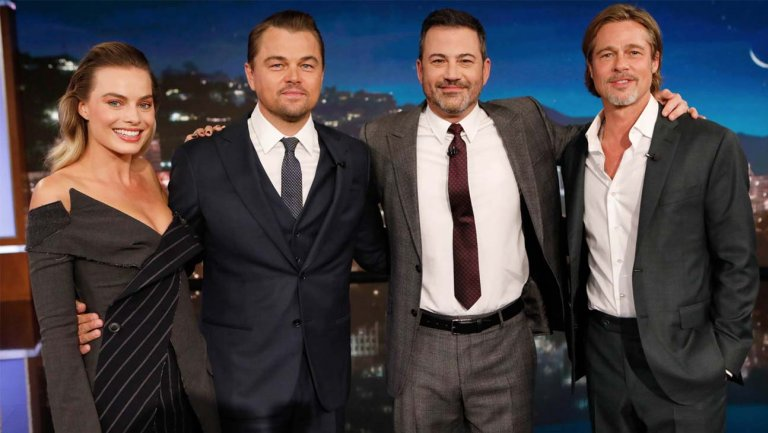Leonardo DiCaprio, Brad Pitt and Margot Robbie Interrupt Kimmel Monologue