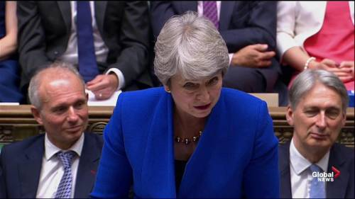 Theresa May delivers parting shot on Brexit to Boris Johnson
