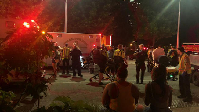 Three stabbed, more than a dozen injured at Navy Pier after Chicago fireworks show, police say