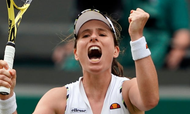 Johanna Konta battles past Petra Kvitova to reach Wimbledon last eight